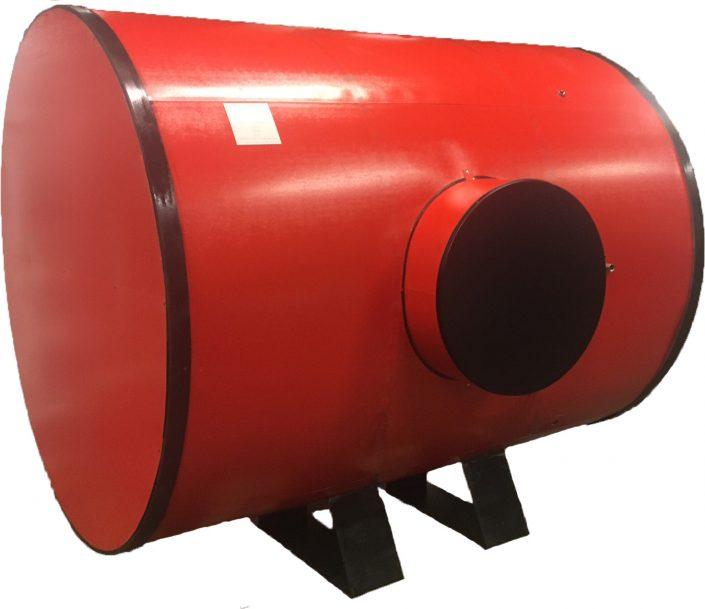 Horizontal Red Calorifier