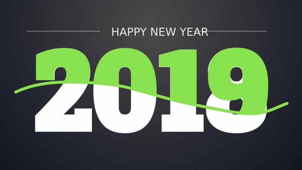 Happy New Year Logo 2019 73